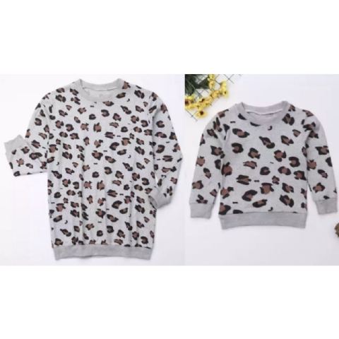 GREY LEOPARD PRINT JUMPER